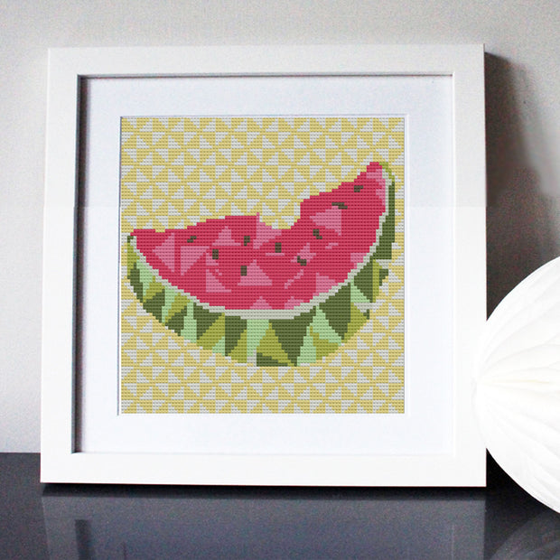 Geometric Melon Cross Stitch Kit