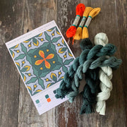 MEXICAN MARIGOLD TILE Cross Stitch Kit