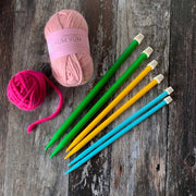 Premium Colourful Straight Knitting Needles