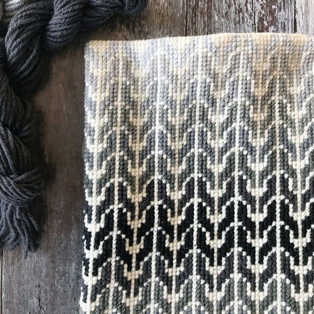 Monochrome Ombre Knit Look Cross Stitch Kit