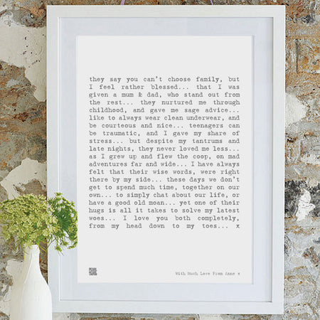 Parent Poem Classic Art Print