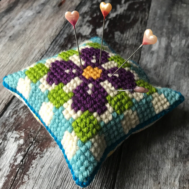 Pansy Granny Square Tapestry Cross Stitch Kit