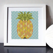 Geometric Pineapple Cross Stitch Kit