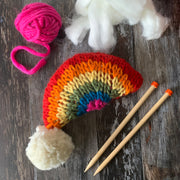 Rainbow Plushie Pattern + Yum Yum Merino Wool 6 Ball Bundle