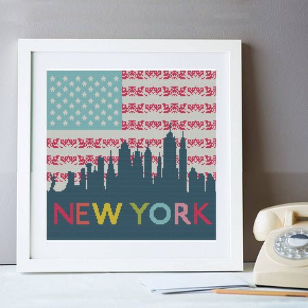New York Skyline Cross Stitch Kit