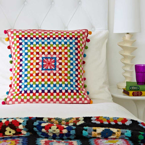 Supersize Stitches Granny Square Cross Stitch Kit