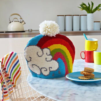 Supersize Stitches Rainbow Cloud Teacosy Cross Stitch Kit