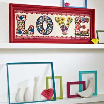 Supersize Stitches Love Floral Cross Stitch Kit