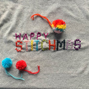 DIY HAPPY STITCHMAS Cross Stitch Christmas Sweatshirt