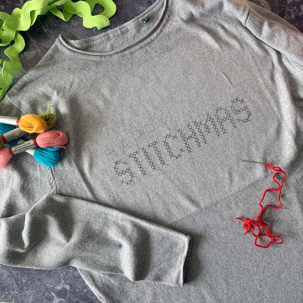 DIY HAPPY STITCHMAS Cross Stitch Christmas Jumper