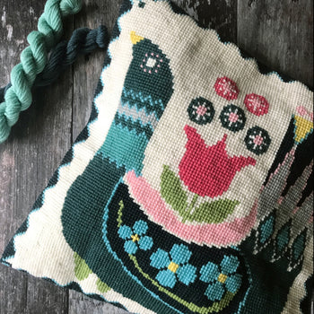 Scandinavian Bird Folksy Cross Stitch Kit