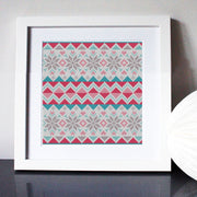 Scandi Fairisle Stocking Mini Cross Stitch Kit