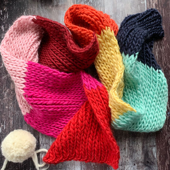 WHO Rainbow Super Scarf DIY Knitting Kit
