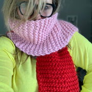 Half N Half Simple Scarf Knitting Kit - Adult & Children
