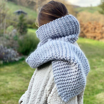 Ripple Beginner Supersize Scarf Merino Knitting Kit (+Bonus Pattern)