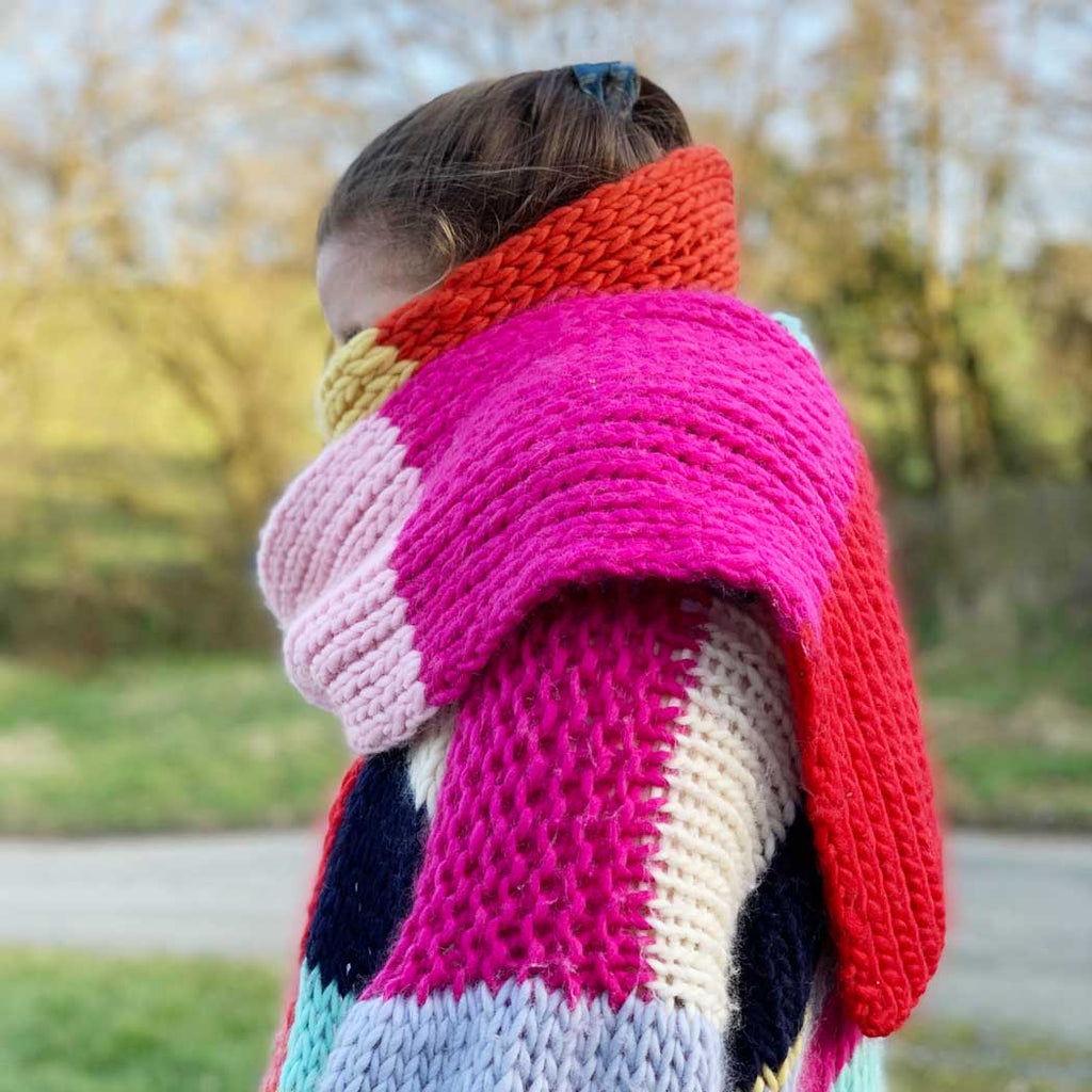 WHO Rainbow Supersize Scarf DIY Knitting Kit