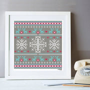 Snowy Winter Jumper Cross Stitch Kit
