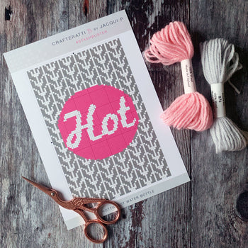 HOTTIE Knit Cross Stitch Mini Kit