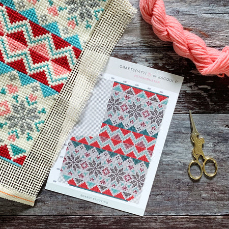 Scandi Fairisle Stocking Stashbuster Collectable Chart