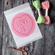 Love IS Love Heart Mini Cross Stitch Kit