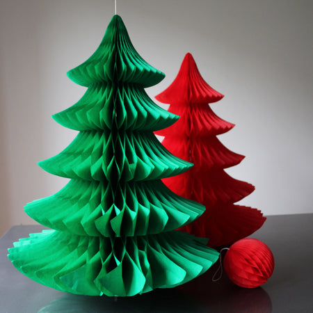 Paper Honeycomb Christmas Tree - GREEN *SALE*