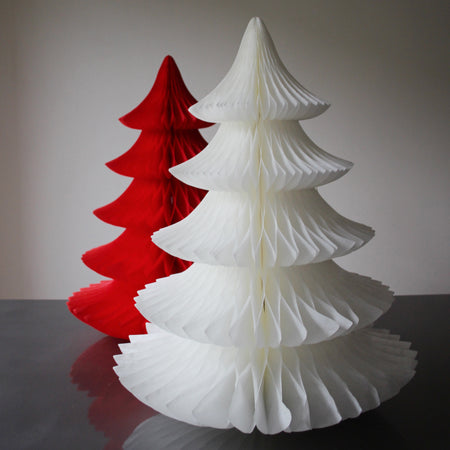 Paper Honeycomb Christmas Tree - WHITE *SALE*