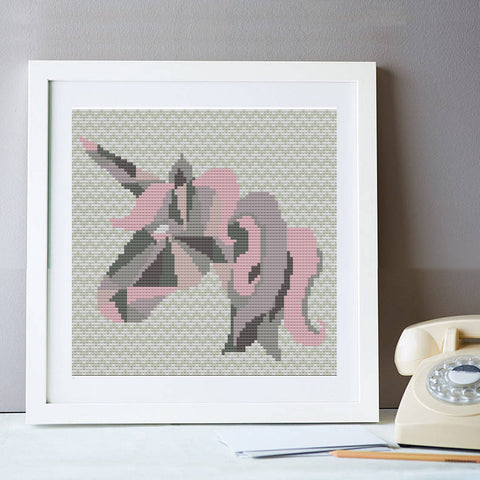 Geometric Unicorn Cross Stitch Kit