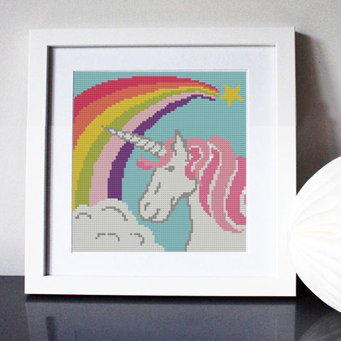 Rainbow Unicorn Cross Stitch Kit