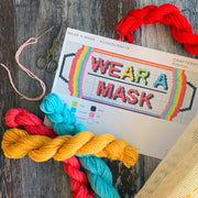 WEAR A MASK Cross Stitch Kit Rainbow Limited Edition