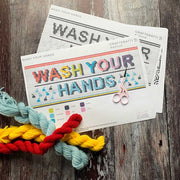 WASH YOUR HANDS Cross Stitch Kit Rainbow *LETTERBOX GIFT KIT*
