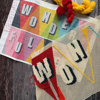 Pennant WONDERFUL Long Tapestry Cross Stitch Kit