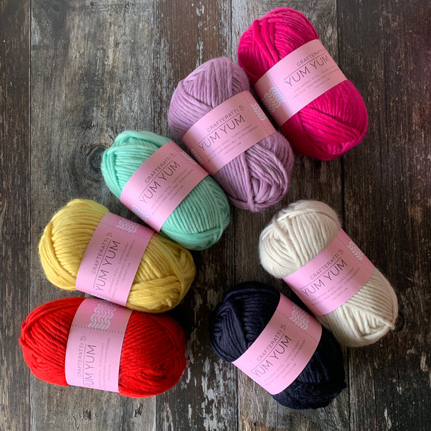 Yum Yum Merino Wool 5 Ball Bundle - MODERN RAINBOW mix
