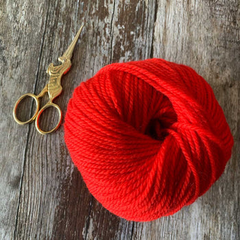 Mini Yum Aran Yarn Merino Wool - Red Lippy