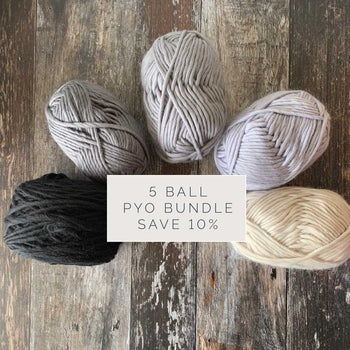 Yum Yum Merino Wool Yarn Bundle - PYO 5 BALLS