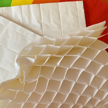 Paper Honeycomb Rainbow pack 4 WHITE *SALE*