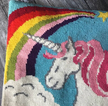 Rainbow Unicorn Tapestry Cross Stitch Kit