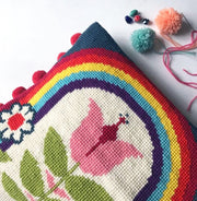 Retro Bloom Rainbow Cross Stitch Kit