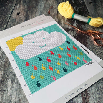 Mini Rainbow Cloud Cross Stitch Kit