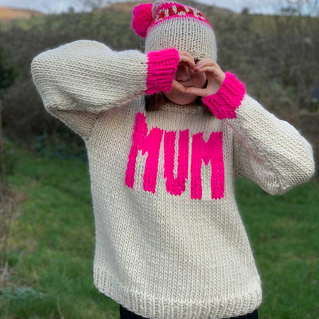 BIG MUMMA Intarsia Jumper Merino DIY Knitting Kit