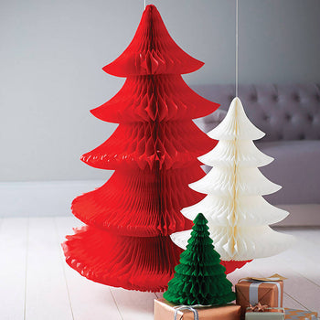 Paper Honeycomb Christmas Tree - RED *SALE*