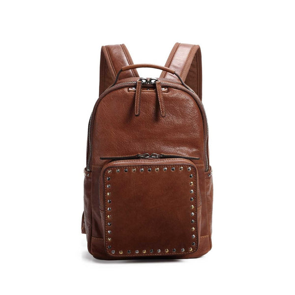 Soul Stud Leather Backpack - Ceiba Imports