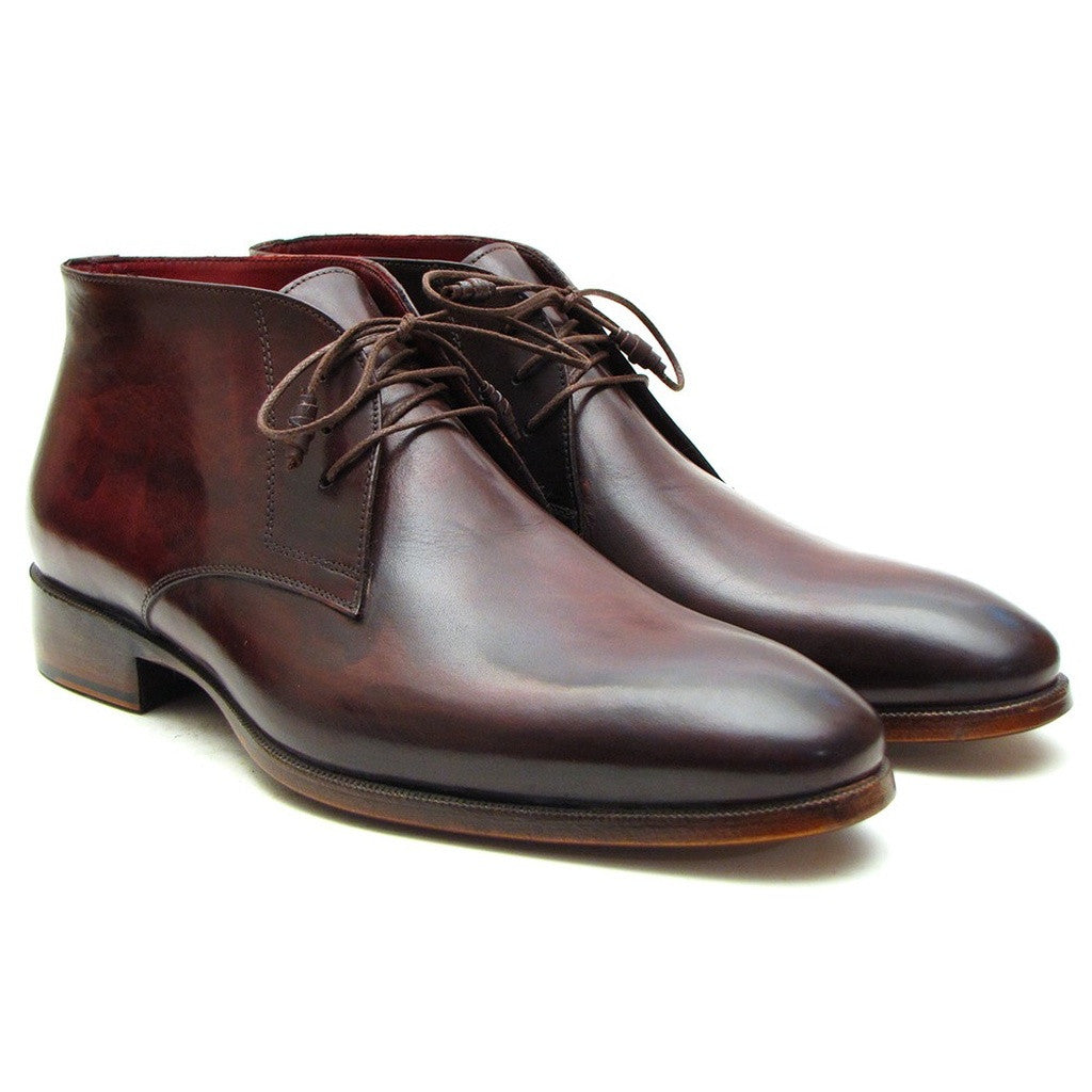 Paul Parkman Men's Chukka Boots Brown & Bordeaux - Ceiba Imports