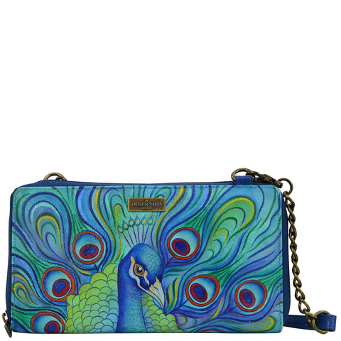 Zip Around RFID Crossbody Clutch