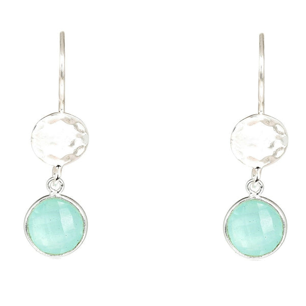 Circle & Hammer Silver Earrings - Ceiba Imports
