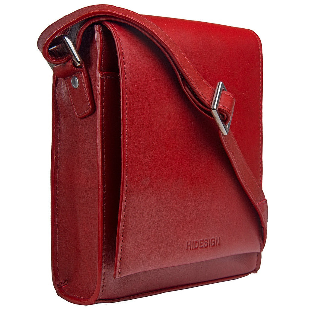 Hidesign Nico Leather Red Cross Body