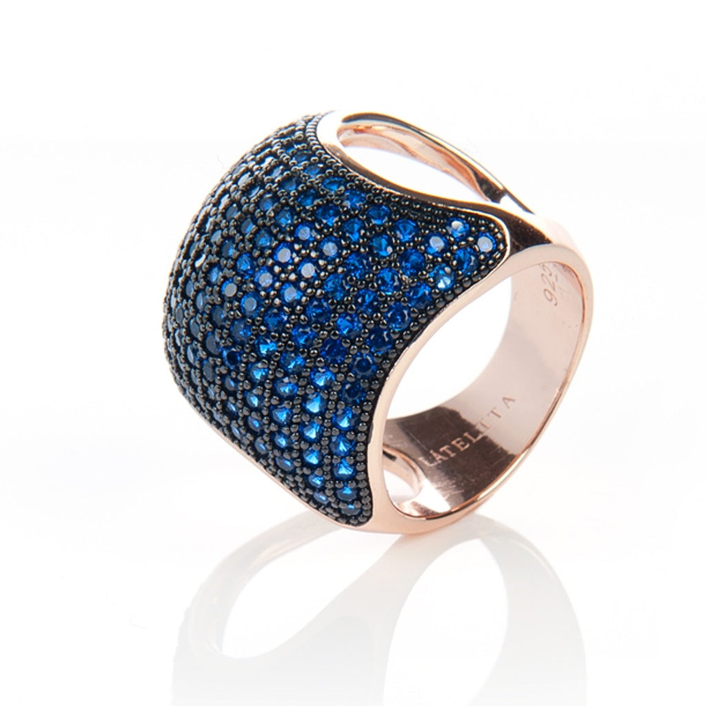 Blue Cocktail  Cushion Ring - Ceiba Imports