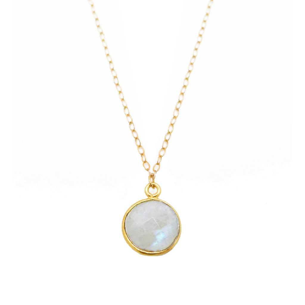 Moonstone Bezel Necklace - Ceiba Imports