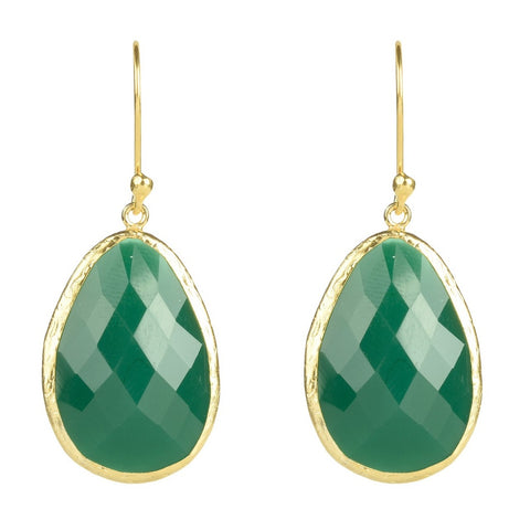 Green Onyx Drop Earring