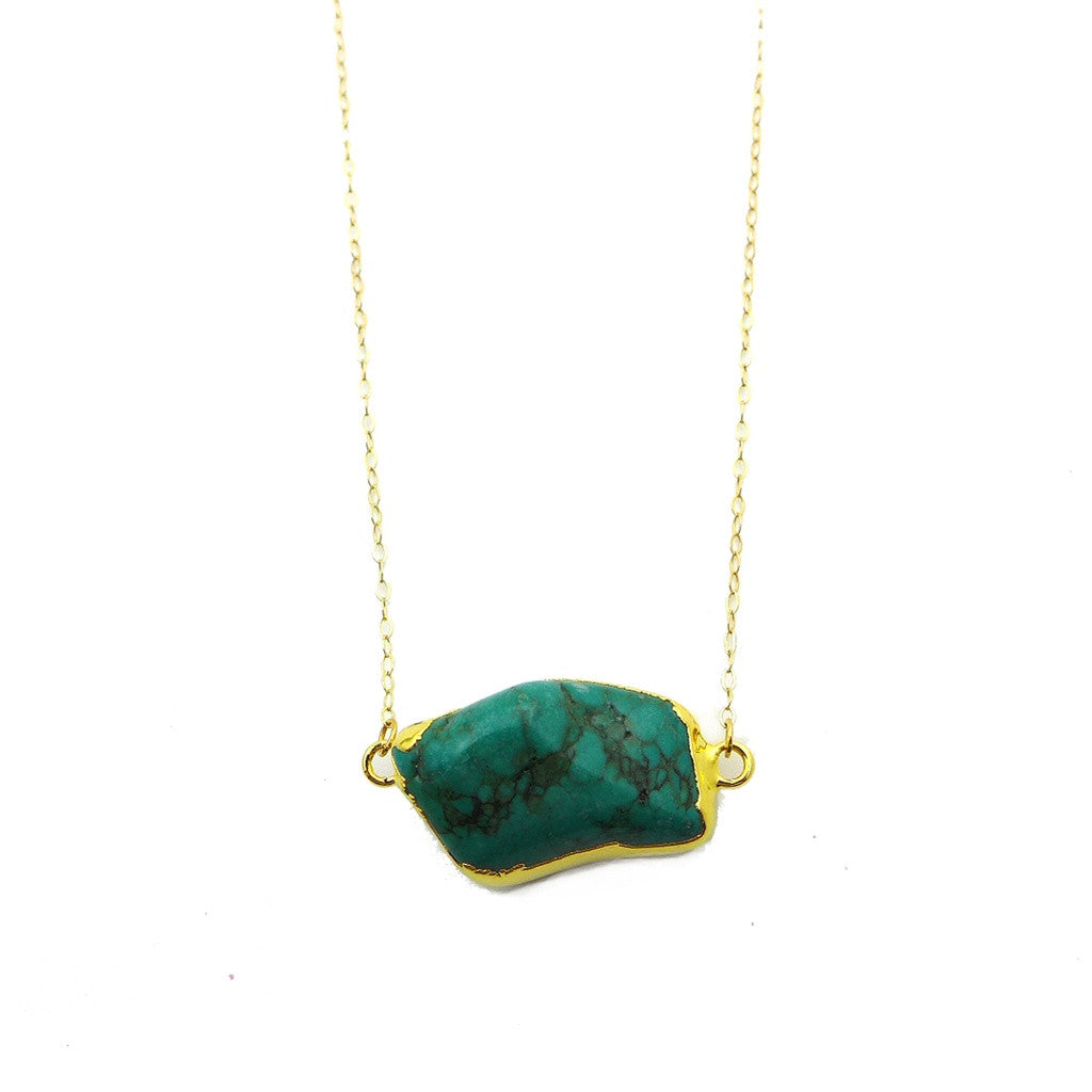 Raw Turquoise Necklace - Ceiba Imports