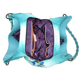 533 Triple Compartment Shopper With Braided Handle - Ceiba Imports